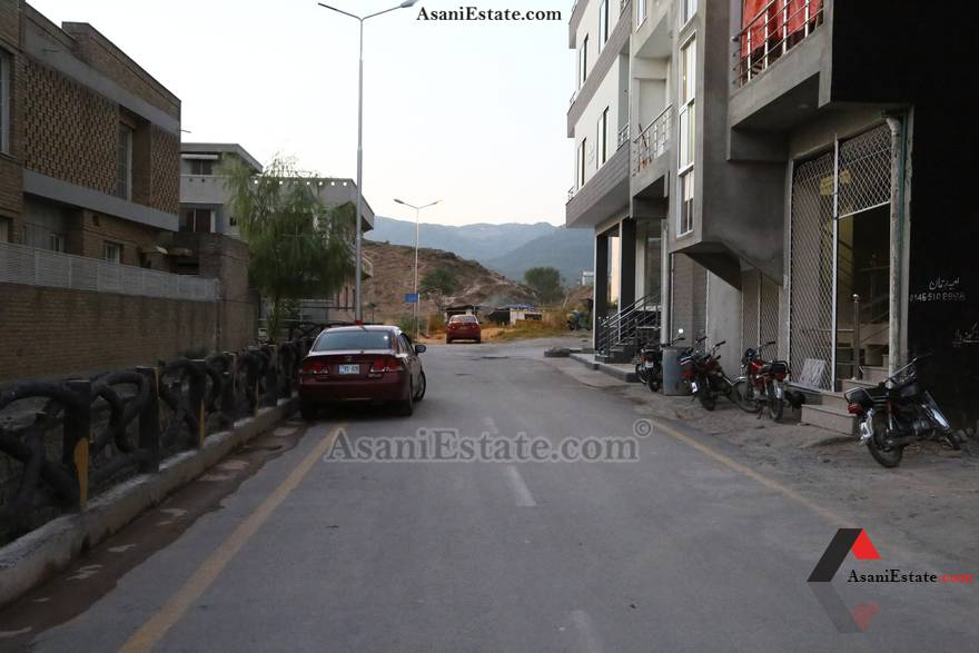 Street View 1600 sq feet 7.1 Marlas flat apartment for rent Islamabad sector E 11