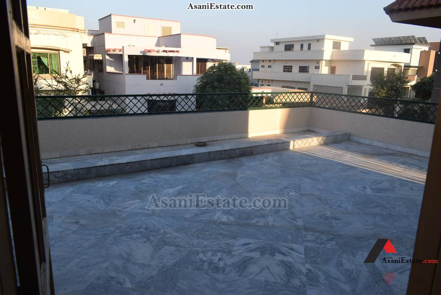 First Floor Balcony/Terrace 50x90 feet 1 Kanal portion for rent Islamabad sector E 11