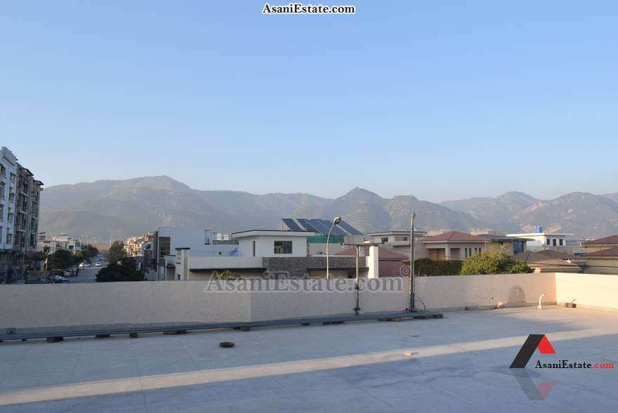 Rooftop View 50x90 feet 1 Kanal portion for rent Islamabad sector E 11