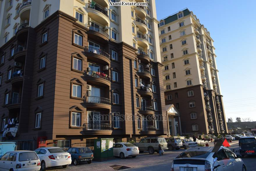 Outside View 2700 sq feet 12 Marla flat apartment for sale Islamabad sector E 11